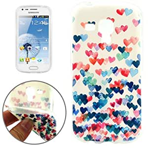Coque Samsung Galaxy Trend Duos Silicone Colorful Heart-Shaped Pattern TPU Protective Case
