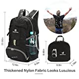 NEEKFOX Lightweight Packable Travel Hiking Backpack Daypack, 35L Foldable Camping Backpack,Ultralight Outdoor Sport Backpack (black)