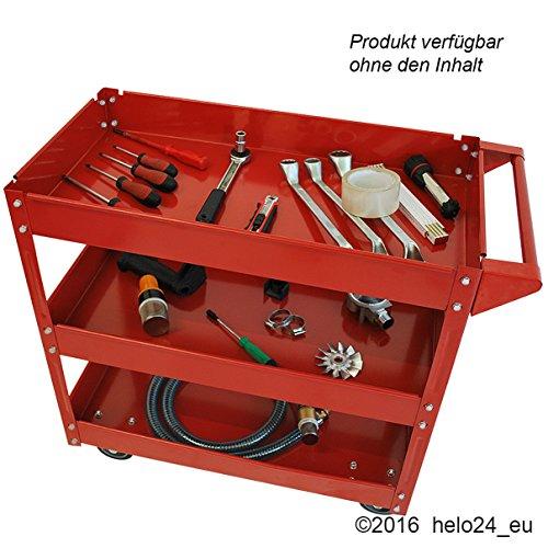 Werkstattwagen mit 3 Ablagen Werkzeugwagen Lagerwagen - 3