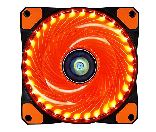 PC Lüfter,CONISY 120 mm LED Ultra Leise Gehäuselüfter für Computer Fällen Kühlerlüfter - Orange Orange Wasser-kühler