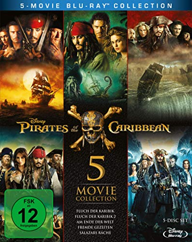 Pirates of the Caribbean 1-5 Box [Blu-ray]