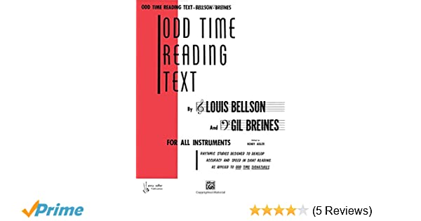Odd Time Reading Text: For All Instruments: Amazon co uk: Louis