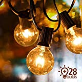 VIFLYKOO Lichterkette Außen, LED Lichterkette Glühbirnen G40 Wasserdichte Innen und Außen Beleuchtung mit 9.5 Meter 28 Garten Lichterketten Dekoration für Garten, Hochzeit,Grill, Weihnachten