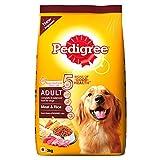 #3: Pedigree Adult Dog Food Meat & Rice, 3 kg Pack