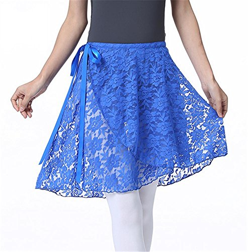 Ballet tabliers de formation / ballet Lei maille jupe de gaze Blue