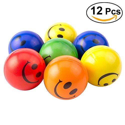 lle Hand Kissen Spielzeug Weiche Smiley Ball 2,5 Zoll Set von 12 (Smiley-bälle)
