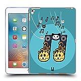 Head Case Designs 2 Achtelnote Meow-Sical Symbole Soft Gel Hülle für iPad Pro 9.7 (2016)