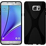 Funda de silicona para Samsung Galaxy Note 5 - X-Style negro - Cover PhoneNatic Cubierta + protector...
