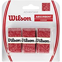 Wilson Griffband Advantage Overgrip 3 Pack Overgrips Raqueta-Unisex, Rojo, NS