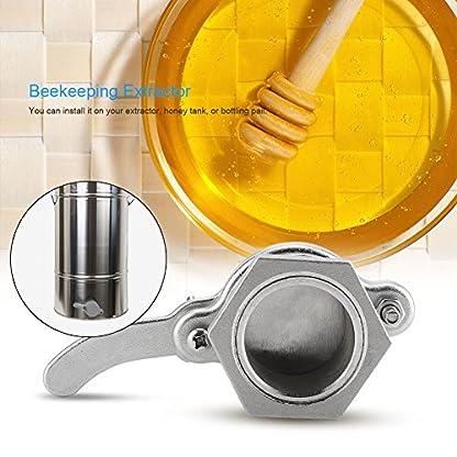 Zerodis Bee Honey Bucket Tap Gate Valve Stainless Steel Hive Honey Extractor Tool Beekeeping Bottling Equipment 7