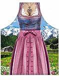 Schürze = Bayerische Frau Klassik = Schürze mit Motiv Kochschürze Küchenschürze Latzschürze Grillschürze