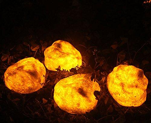 Solarleuchten Garten LED Stein Harz Energieeffiziente Umweltfreundliche Wasserdicht für Außen / Landscape / Outdoor Zaun Stimmungslampe(IP55)