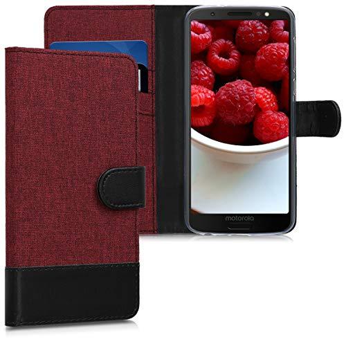 kwmobile Motorola Moto G6 Hülle - Kunstleder Wallet Case für Motorola Moto G6 mit Kartenfächern und Stand