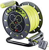 Masterplug OMU25134SL-PX 25 m 4 Socket Electrical Cable Reel with Safety Thermal Cut Out and Reset
