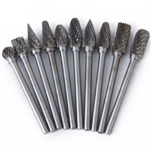 10pcs SCHAFTFRaeSER Tungsten Stahl YG8 Fraeser 6mm Kopfdurchmesser