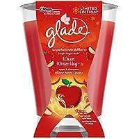 Glade By Brise Bougie Parfumée, Jusqu'à 52h de Combustion, Édition Limitée, Douceur Pomme Cannelle, 224 g