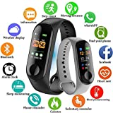 shree krishna M3 Intelligence Bluetooth Smart Watch/Smart Bracelet/Health Band/Activity Tracker/Bracelet/Fitness Band/M3 Band/with Heart Rate Sensor Compatible for All Androids and iOS Phone/Tablet