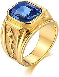 Aooaz Gioielli anello fascia anello acciaio uomo antico riproduzione in stile Libellula anello gotico anelli fidanzamento anello biker