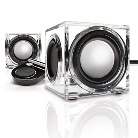 GOgroove Mini 2.0 Stereo Lautsprecher für Smartphones wie Samsung Galaxy A3 J5 A5 J3 iPhone 5 6 7 Honor 5X Huawei P8 P9 lite Lenovo Moto G4 und mehr