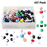Winni43Julian Modello molecolare Set - 437 pz Kit per Modellini Molecolarie Chimica Organica e Inorganica - Atomi e Molecole Modelli con Sfere da 2.2 cm di Diametro