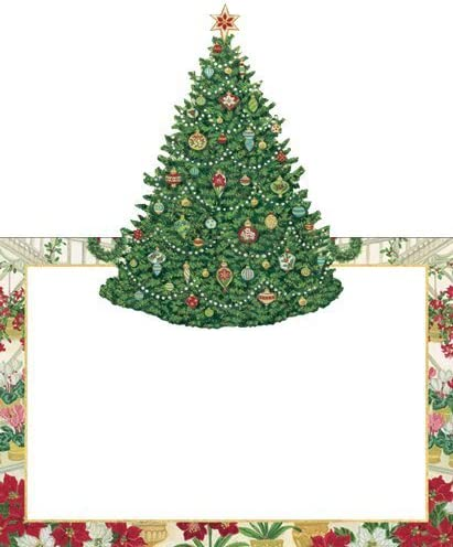 Christmas place Cards Christmas party Christmas Christmas Dinner Christmas party Table Decorations Christmas Tree Pack of 16 970c3a