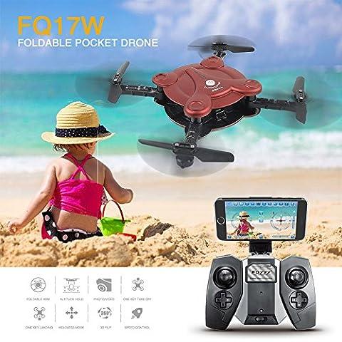 Mini Drone with Camera, Zantec RC Flexible Foldable Aerofoils Quadcopter