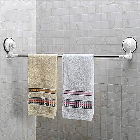 Estante de la barra de toalla, GETALL vacío Super fuerte succión taza esquina toalla estante Rack ahorro espacio marco almacenamiento consolidación para baño y cocina de acero inoxidable (estante de la toalla)