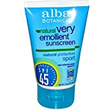 Best ALBA Sunscreens - Alba Botanica Spf 45 Sunscreen Sport 4oz Tube Review