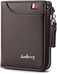 Baellerry Zipper Artificial Leather Short Wallet For Men