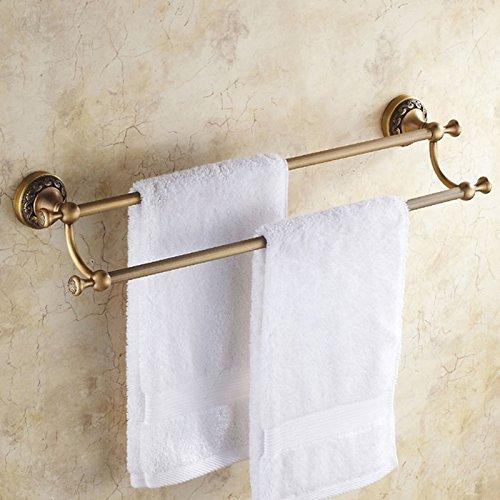 KHSKX Antiquariato in ottone solido portasalviette-stile retrò portasciugamani asciugamano da