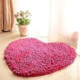 Dekorative teppiche Chenille carprt ehe zimmer herz-Geformte tür matten nicht-Slip water absorption foot pad -E (20x24inch)50x60cm