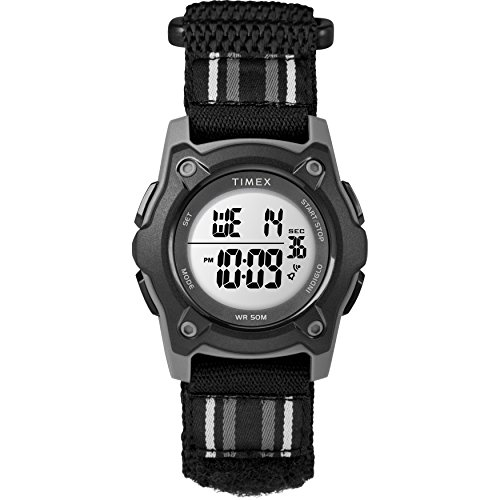 Timex Kids TW7C26000 Time Machines Digital 35mm Blue/Black/Green Double-Layered Nylon Strap Watch -