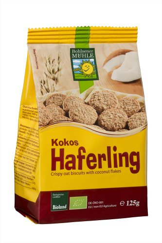 Bohlsener Mühle Koko-Haferlinge, 6er Pack (6x 125 g) - Bio (Lebensmittel, Mühlen)