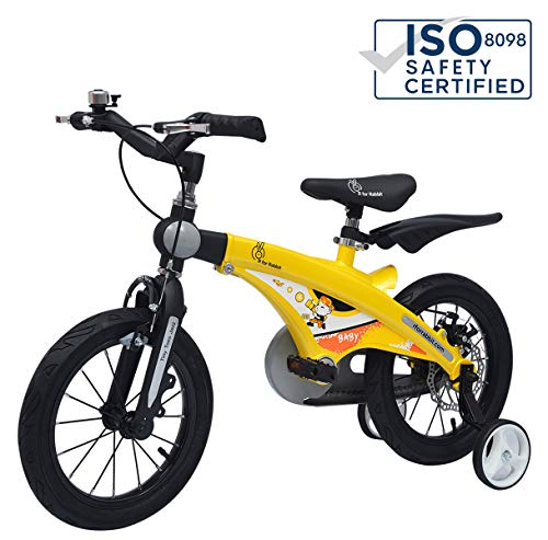 R for Rabbit Bicycle for Kids - The Smart Plug and Play Kids Cycle (16 inch/T - for Kids 4 Years to 7 Years) (Yellow Black)
