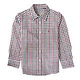 Almsach Trachtenhemd Domi für Kinder mehrfarbig in Rot und Dunkelgrün inklusive Volksfestfinder, Farbe:Mehrfarbig, Größe:140/146