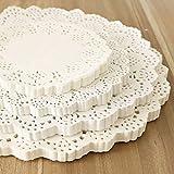 FHOMEY Sets de Table Coaster 4 4,55,5 6,5 7,5 8,5 Pouces Tailles Assorties Rondes Dentelle Table Dentelles Doilies Blanc Vaisselle Décorative Napperons Tapis De Papier 100Pcs