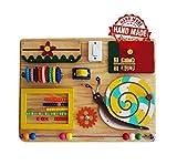 Montessori Busyboard Sinneswand 'Kleiner Naturliebhaber' 30 x 40 cm