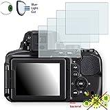 4 x DISAGU ClearScreen Film de protection d´écran pour Nikon COOLPIX P900 antibactérien, filtre lumière bleue, film de protection