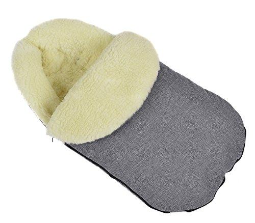 Sacco a Pelo Invernale per Passeggino e Carrozzina Confortevole bambino imbottito di copertura con lana Len avec capuche [071]
