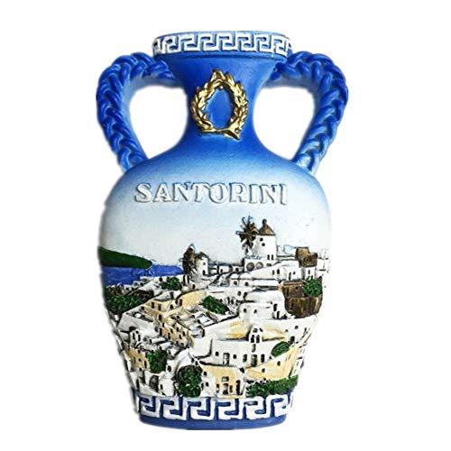 Kühlschrankmagnet Santorini Griechenland 3D Harz Handgemachte Handwerk Touristische Reise Stadt Souvenir Sammlung Brief Kühlschrank Aufkleber