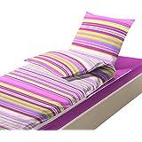Bleu Câlin Caradou CARC90 – Ropa de cama infantil, 4 piezas (incluye edredón), algodón, Rose, 90 x 190 cm