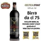 Birra Morena Celtica Stout 6,8 % alc vol CL 75 Miglior Birra al Mondo Sweet Stout aroma caramello vaniglia cioccolato Artigianale Craft Beer Italiana Premiata Regalo Eventi Natale Pasqua