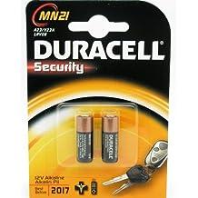 2x Pila Duracell Alcalina Security A23 / K23A LRV08 de 12V 2017 Bateria 2665c