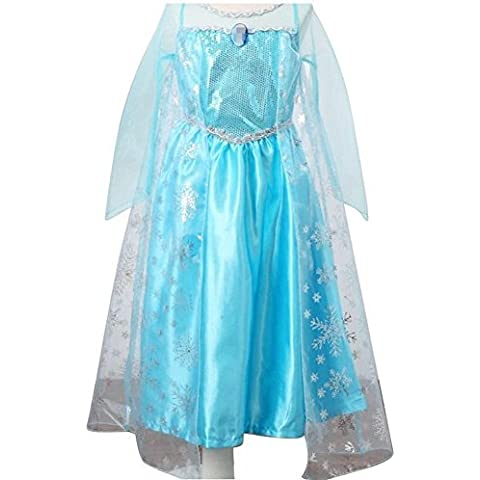 iPretty Vestido infantil Disfraz de Princesa para Fiesta Carnaval Cosplay para Niñas Talla: