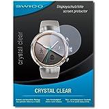 """2 x SWIDO® protecteur d'écran Asus Zenwatch 3 WI503Q film protecteur feuille """"CrystalClear"""" invisible"""