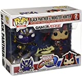 Pop Marvel Capcom Black Panther Vs Monster Hunter Vinyl Figure 2 Pack