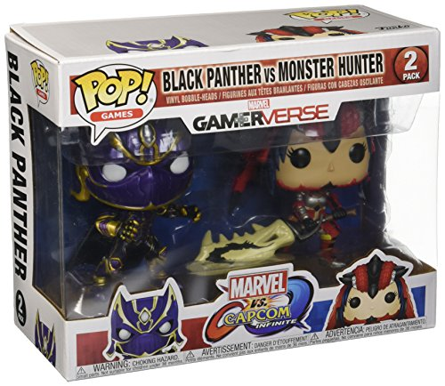 Pop Marvel Capcom Black Panther Vs Monster Hunter Vinyl Figure 2 Pack (2 Shirt Direkt)