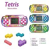 Dieron Classic Tetris Game Console Handheld Game, Mini Game Console, Electronic Game Console, Good Gift for Kids 9 x 4 x 4cm (Random Color)