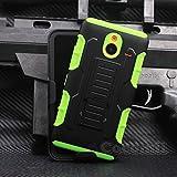 Cocomii Robot Armor Nokia Lumia 640 XL Hülle [Strapazierfähig] Gürtelclip Ständer Stoßfest Gehäuse [Militärisch Verteidiger] Ganzkörper Case Schutzhülle for Nokia Lumia 640 XL (R.Green)