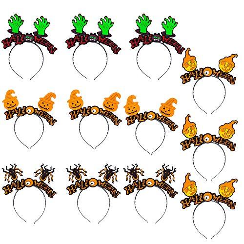 en Haarreifen Damen und Kinder Haarband Haarschmuck - Karneval Fasching Halloween Haarbänder Stirnbänder - Spinne,Kürbis,Geist,Hand ()